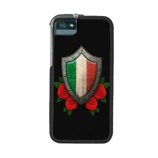 Escudo italiano gastado de la bandera con los rosa