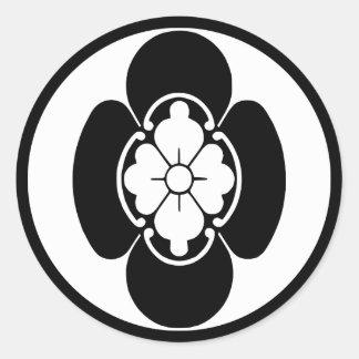 Escudo japonés de la familia KAMON del Hotta Etiquetas