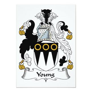 """Escudo joven de la familia invitación 5"""" x 7"""""""