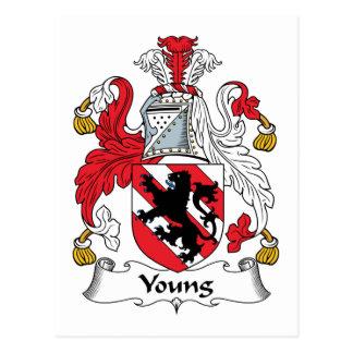 Escudo joven de la familia tarjetas postales
