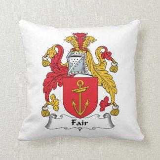 Escudo justo de la familia almohadas
