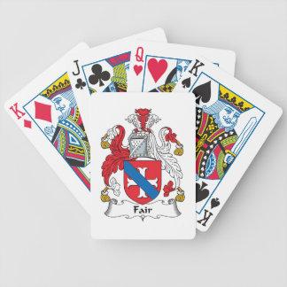 Escudo justo de la familia barajas de cartas