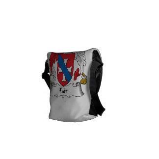 Escudo justo de la familia bolsas messenger