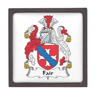 Escudo justo de la familia caja de joyas de calidad