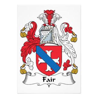 Escudo justo de la familia comunicado personalizado