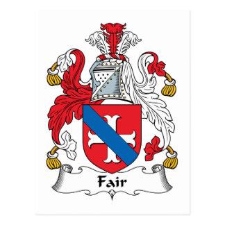 Escudo justo de la familia postal