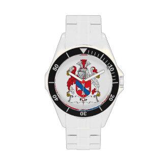 Escudo justo de la familia reloj de mano