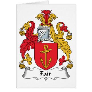 Escudo justo de la familia tarjeta