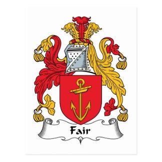 Escudo justo de la familia tarjetas postales