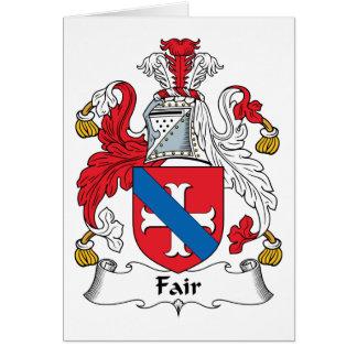 Escudo justo de la familia tarjetón