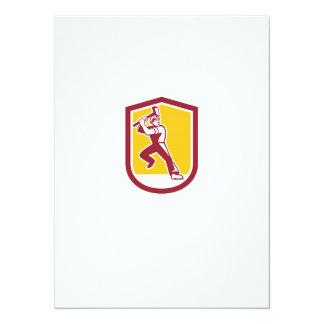 """Escudo llamativo de la almádena del trabajador de invitación 5.5"""" x 7.5"""""""