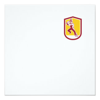 """Escudo llamativo de la almádena del trabajador de invitación 5.25"""" x 5.25"""""""