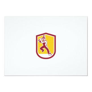 """Escudo llamativo de la almádena del trabajador de invitación 5"""" x 7"""""""