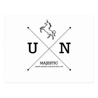 Escudo majestuoso del unicornio X Tarjeta Postal
