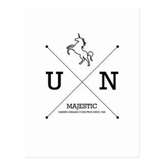 Escudo majestuoso del unicornio X Tarjetas Postales