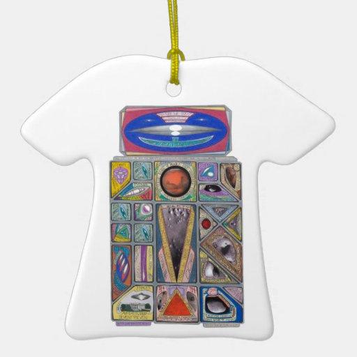 Escudo marciano de la moneda del robot del dinero ornamento para reyes magos