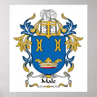 Escudo masculino de la familia posters