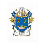 Escudo masculino de la familia postal