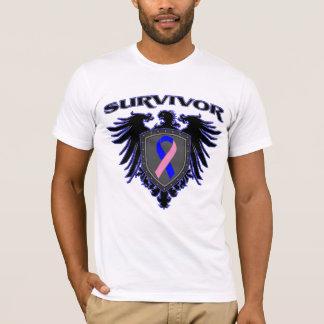 Escudo masculino del superviviente del cáncer de playera