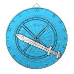 Escudo medieval con la espada tablero dardos
