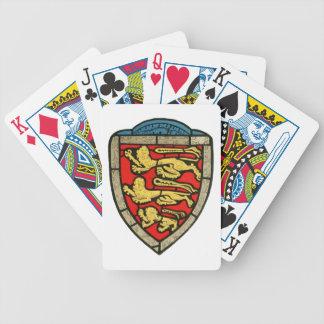 Escudo medieval de los leones cartas de juego