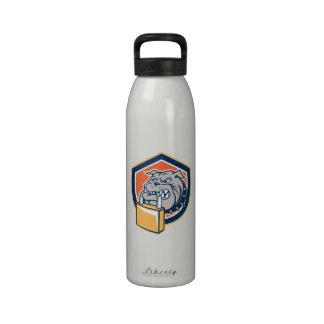 Escudo mestizo del candado del perro del dogo botellas de agua reutilizables