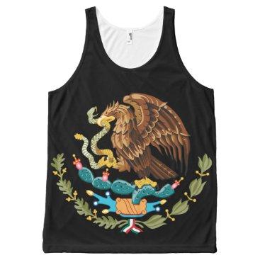 Aztec Themed Escudo Nacional de México - Mexican Emblem All-Over-Print Tank Top