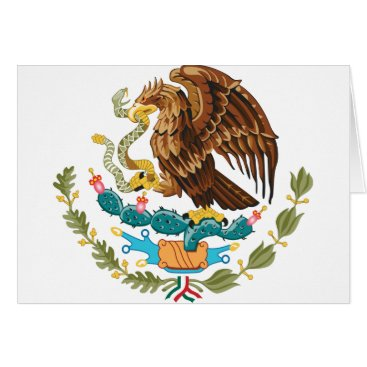 Aztec Themed Escudo Nacional de México - Mexican Emblem Card