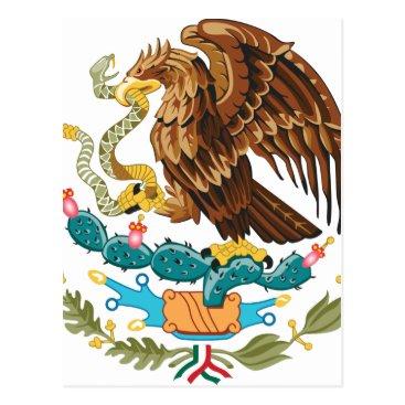 Aztec Themed Escudo Nacional de México - Mexican Emblem Postcard
