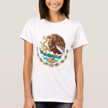 Aztec Themed Escudo Nacional de México - Mexican Emblem T-Shirt