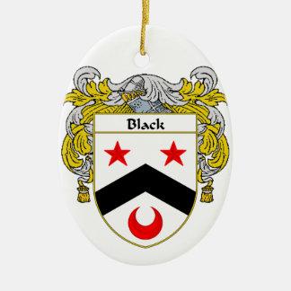 Escudo negro del escudo de armas/de la familia adorno ovalado de cerámica