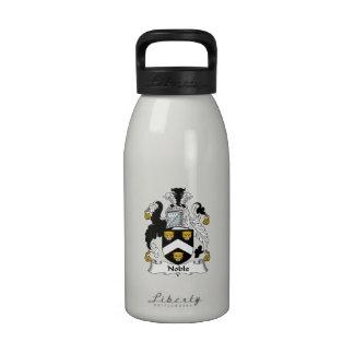 Escudo noble de la familia botella de agua reutilizable