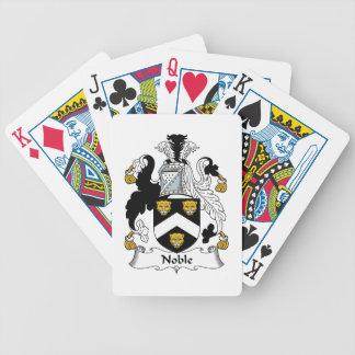 Escudo noble de la familia cartas de juego