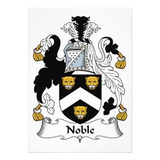 Escudo noble de la familia comunicado personal
