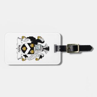 Escudo noble de la familia etiquetas bolsa