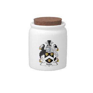 Escudo noble de la familia jarra para caramelo