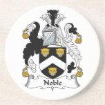 Escudo noble de la familia posavasos diseño