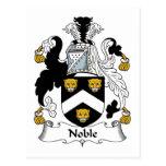 Escudo noble de la familia postales