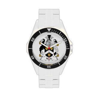 Escudo noble de la familia relojes de pulsera