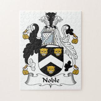 Escudo noble de la familia rompecabeza