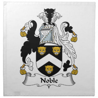 Escudo noble de la familia servilletas imprimidas