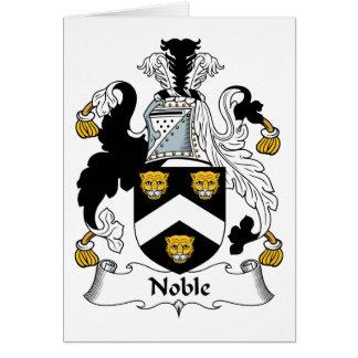 Escudo noble de la familia tarjetón