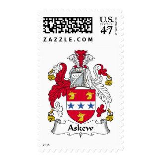 Escudo oblicuo de la familia sellos