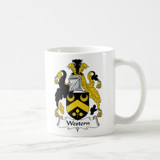 Escudo occidental de la familia tazas de café