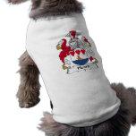 Escudo oído de la familia camisetas de perro