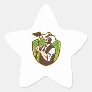 Escudo orgánico de la azada del gancho agarrador calcomanía forma de estrellae