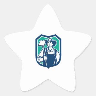 Escudo orgánico de la azada del gancho agarrador calcomanías forma de estrella personalizadas