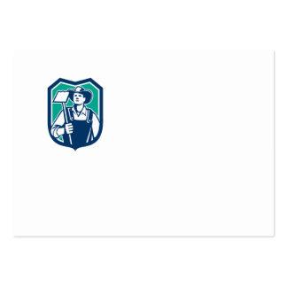 Escudo orgánico de la azada del gancho agarrador tarjeta de visita