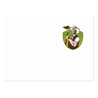 Escudo orgánico de la azada del gancho agarrador tarjetas de negocios