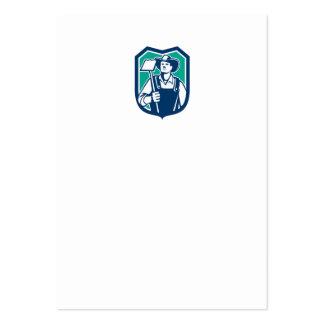 Escudo orgánico de la azada del gancho agarrador tarjeta de negocio